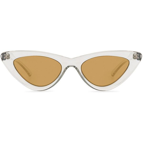 Le Specs x Adam Selman The Last Lolita ($120) ❤ liked on Polyvore featuring accessories, eyewear, sunglasses, acetate sunglasses, le specs, acetate glasses, le specs sunglasses and uv protection glasses