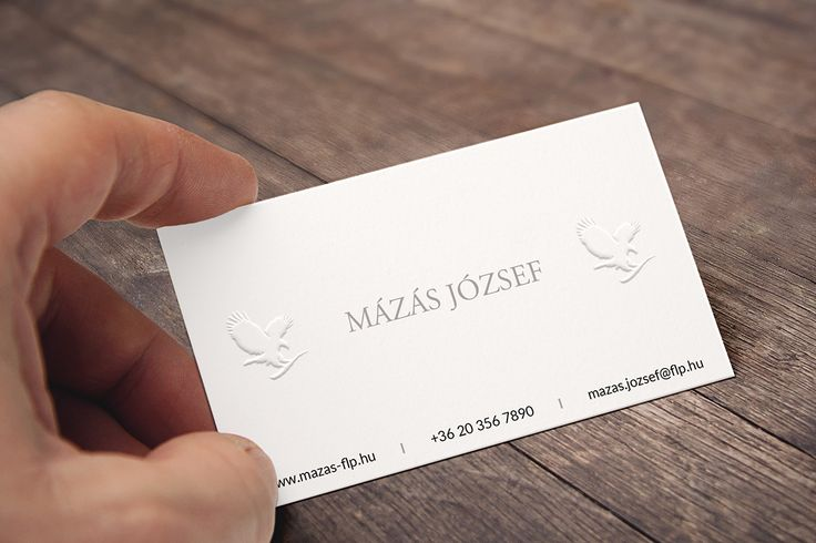 Business Card - New Version with Silver Text