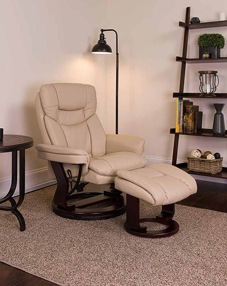 Only 300 usd on Amazon.Beige LeatherSoft Swivel Recliner