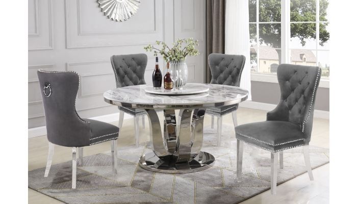 Reyna Round Marble Top Dining Table Marble Top Dining Table
