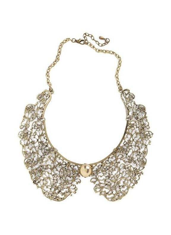 Modcloth Gold An Ornate Fate Collar Necklace
