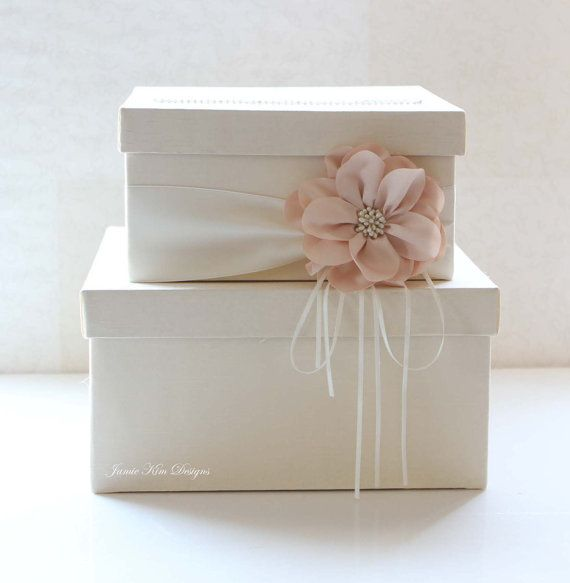 Wedding Card Box Wedding Money Box Gift Card by jamiekimdesigns