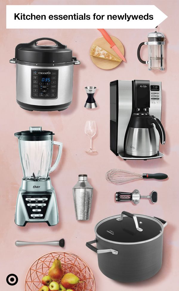 Tying the knot soon and unsure where to even begin? This wedding checklist has all the kitchen essentials newlyweds need. Now you won't forget to add the Calphalon cookware set and a Crock-Pot to your list. And just to start off all your newly-married mornings together on the right foot, you'll need an Oster blender and a Mr. Coffee Thermal Coffee Maker as well!