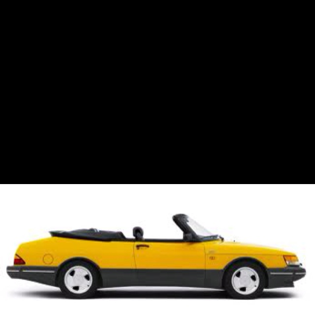 Saab 900 convertible. Mine in slightly less in your face midnight blue.