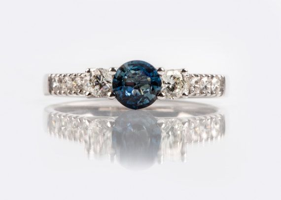 You did just found that special one?     Sapphire Diamond Ring in White Gold, by Danelian Jewelry