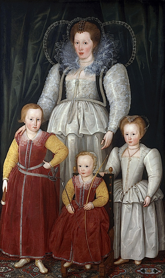 1596 Anne, Lady Pope with her children from her first marriage by Marcus Gheeraerts the Younger (National Portriat Gallery - London UK):
