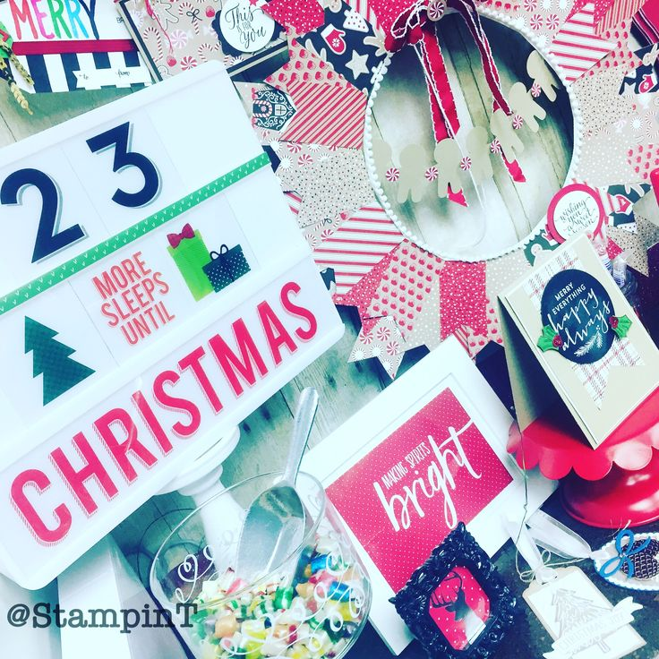 23 sleeps 'til Christmas! Heidiswapp hslightbox