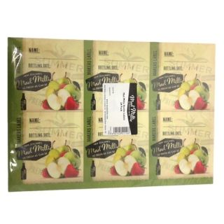 MAD MILLIE'S CIDER BOTTLE LABELS - 24 PACK