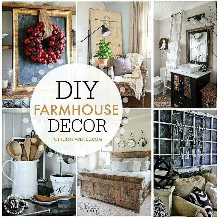 Farmhouse decor for the home pinterest farmhouse for Industrial farmhouse design
