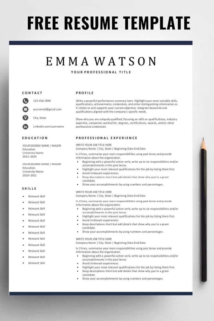 are you looking for a free  editable resume template  sign