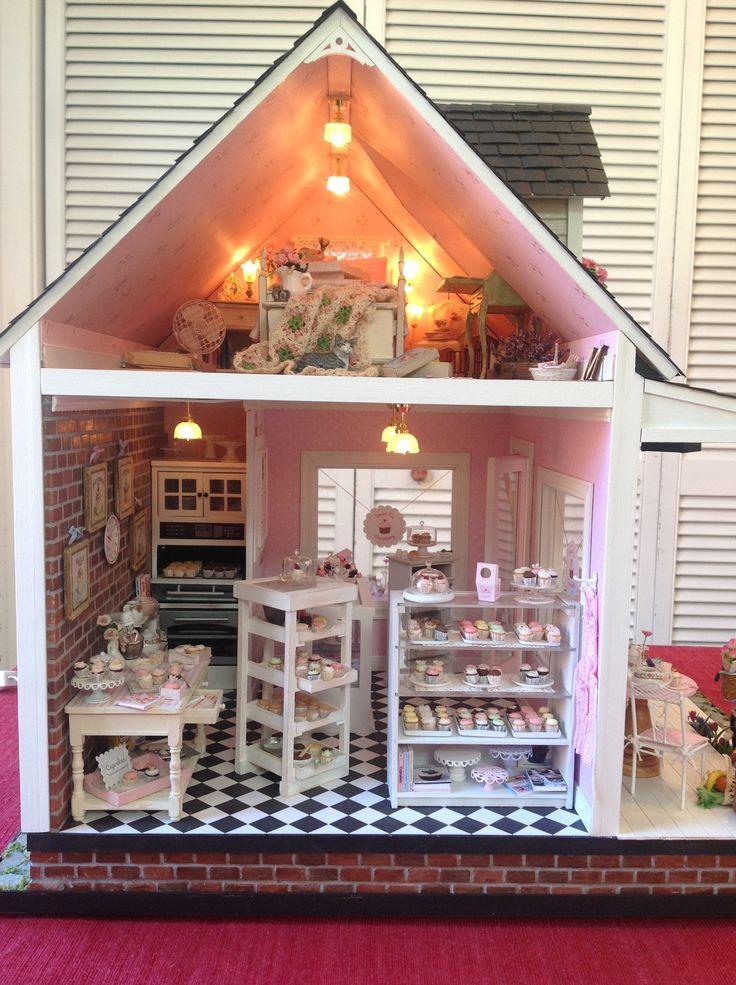 281 best barbie doll houses images on pinterest doll houses dollhouses and barbie doll house. Black Bedroom Furniture Sets. Home Design Ideas