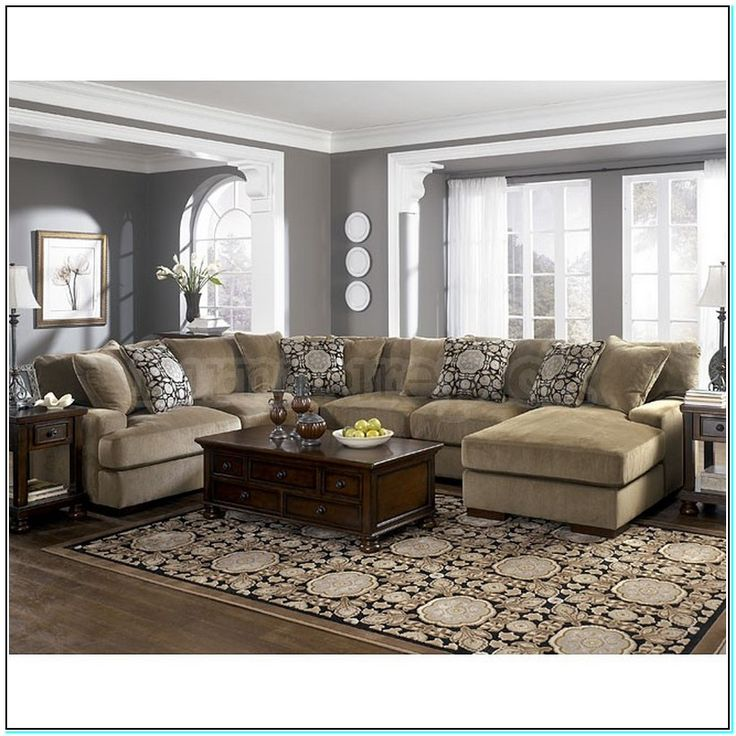 Couch With Grey Walls And Tan Living Room