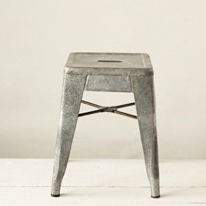 Galvanized Metal Stool $56