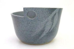 Modern Australian Pottery Noodle Bowl Blue Glazed With Eucalyptus Leaf Motif | eBay