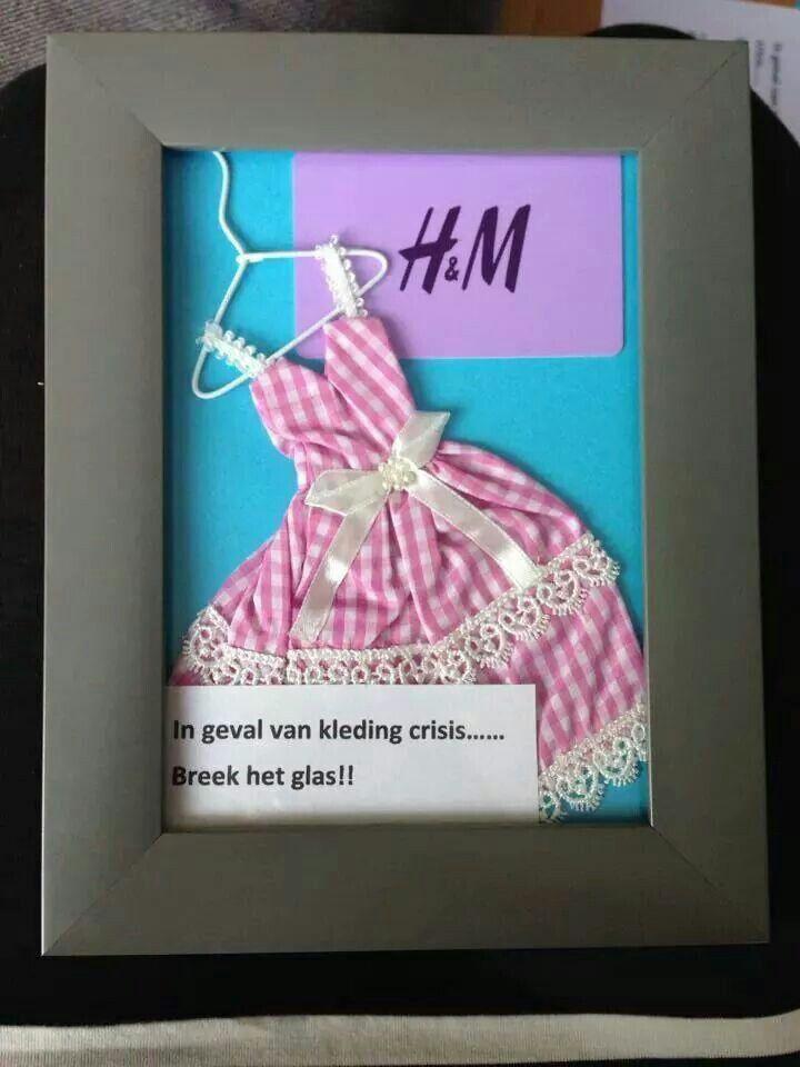 in geval van kleding crisis..... Breek het glas