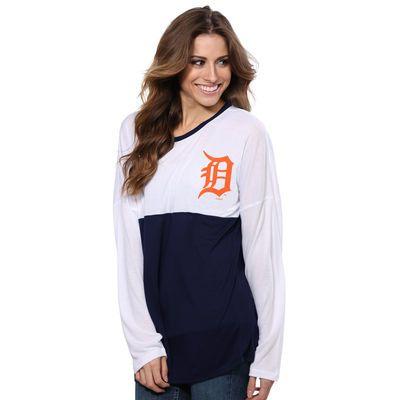 Detroit Tigers Concepts Sport Women's Spirit Top Long Sleeve T-Shirt - White