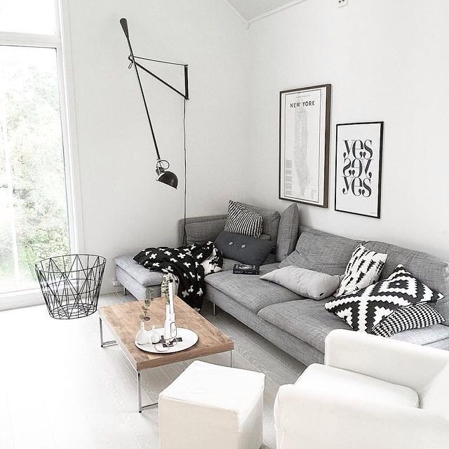 Cinza & branco & preto
