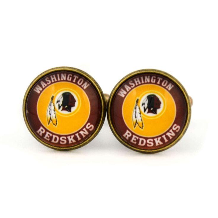 Washington Redskins Logo cufflinks. American football team. Football  fan gift.NFC. NFL. Personalised Silver Men's jewelry accessories gift. by Mysstic on Etsy