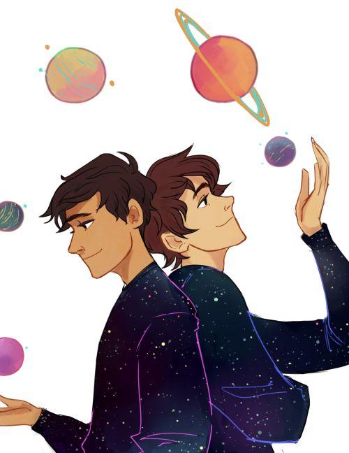 aristoteles y dante descubren los secretos del universo fan art - Buscar con Google