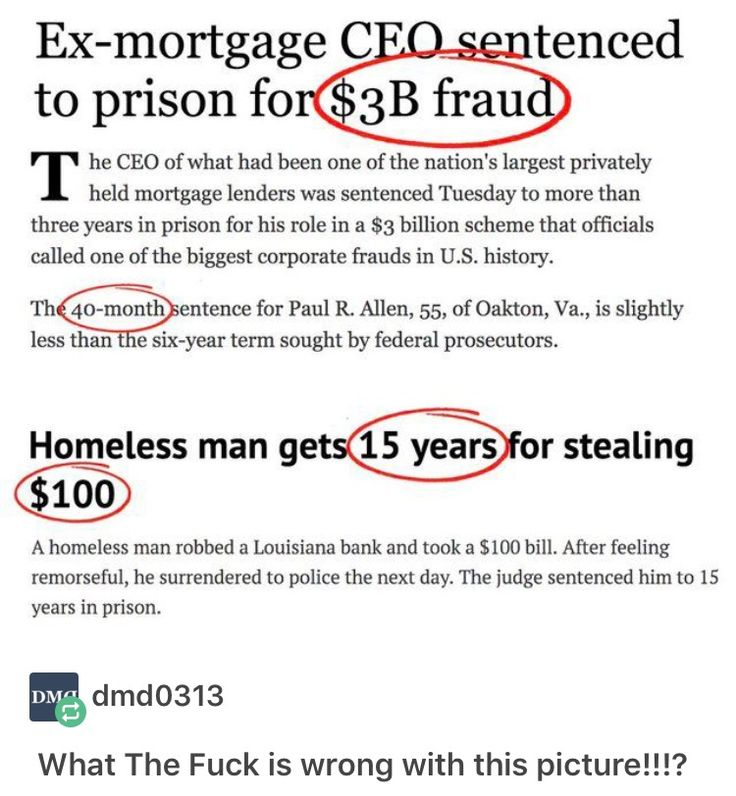 THIS HOMELESS GUY TURNED HIMSELF IN FOR TAKING $100 AND GOT FIVE TIMES AS MUCH AS THE DUDE THAT HAD $3 B I L L I O N IN FRAUD
