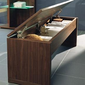 #Walnut City Life bathroom #storage | Villeroy & Boch