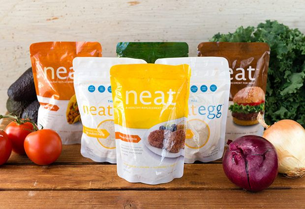 """Neat Meat and Egg Alternative 6-Pack. Gone are the days that you have to avoid recipes that aren't specifically labeled """"vegan."""" This neat 6-pack introduces you to the company's easy-to-use meat and egg alternatives so that when that trending meatball recipe asks for ground beef and an egg binder, you can take out your healthy, soy-free alternative and keep on cooking without even a second's pause!"""