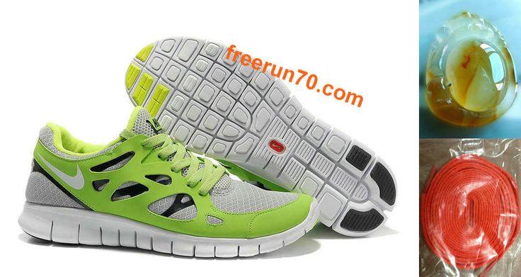 Nike Free Run + 2 Chaussures Hommes Mosaïque Gris / Vert