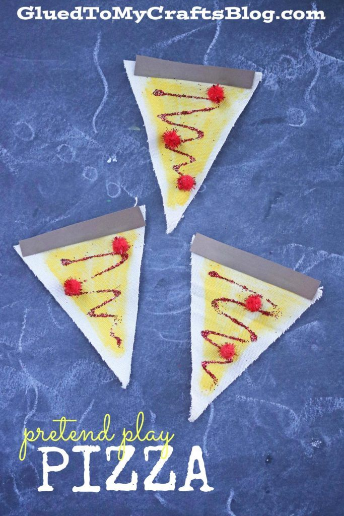 Pretend play pizza kid craft crafts pizza and plays for Get paid to make crafts