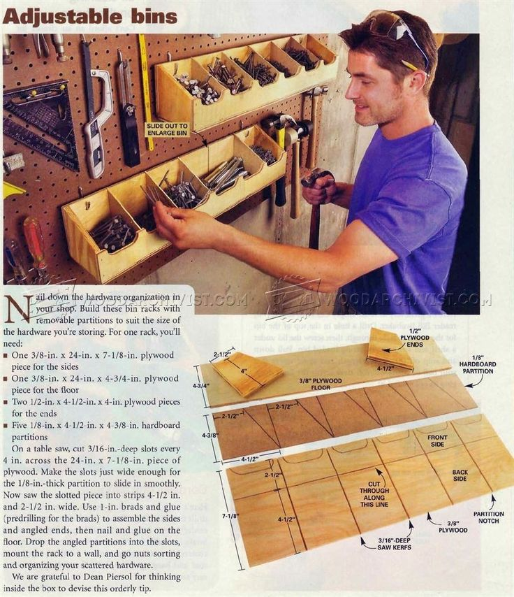 #3031 DIY Pegboard Bins - Workshop Solutions   WoodArchivist.com