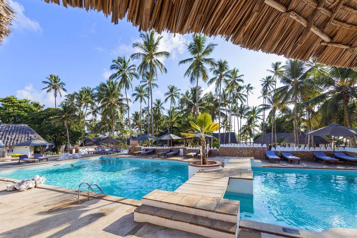 Cool down on a hot Zanzibar day. This is a award winning all inclusive Zanzibar Hotel. #travel #weddingideas #honeymoon #zanzibar #beach #islandlife