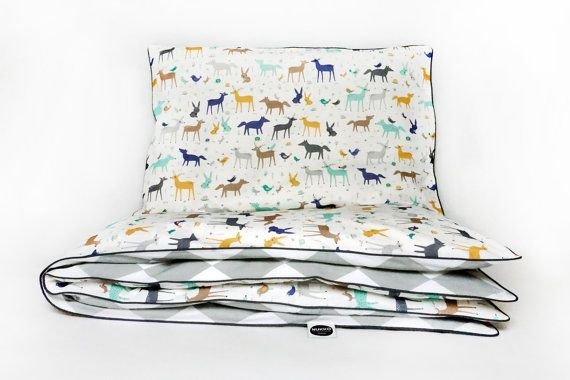 Duvet set with forest animals. Perfect bedding for every little one.
