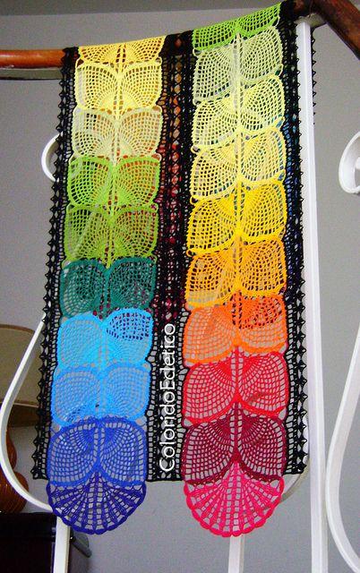 crochet table runner. belle idee arredamento senza schema