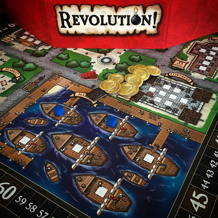 We don't have a lot of #stevejacksongames in the Gameapalooza team, but we have a few and this is one of them, #Revolution from 2009. This one can be hit and miss, but overall, good with most groups. #tabletopgamers #boardgame #boardgamer #boardgames #boardgaming #boardgamegeek #bgg  #juegodemesa #brettspiel #tabletop #tabletopgame #sjg #sjgames