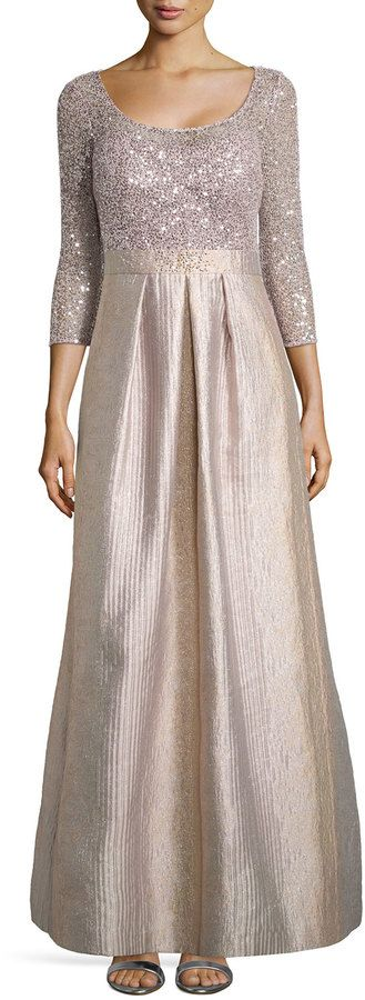 Kay Unger New York Scoop-Neck Ball Gown with Sequined Bodice • Kay Unger New York • $760