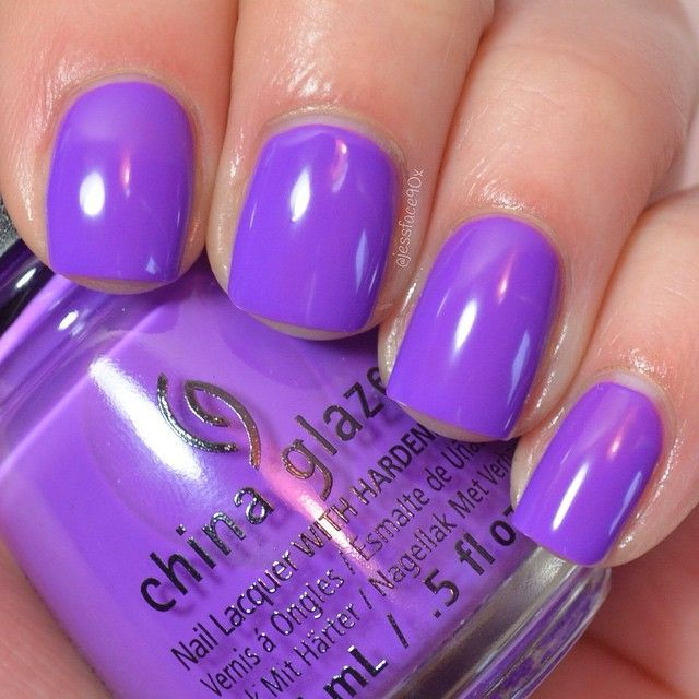 """""""Plur-ple"""" - China Glaze Summer 2015 Electric Nights collection."""