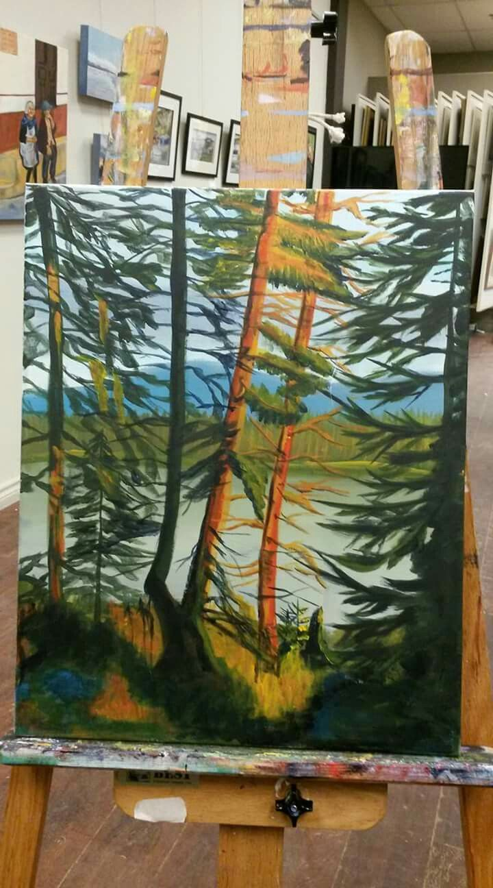 Landscape Acrylic on stretched canvas 16x20
