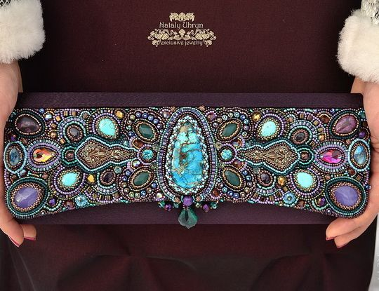 Beautiful embroidered jewelry by Nataly Uhrin (part 1)   Beads Magic