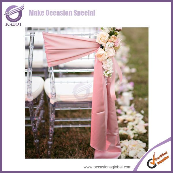 2014 wholesale cheap new chair tie backs matte satin wedding chair covers and sashes for sale $0.09~$0.59
