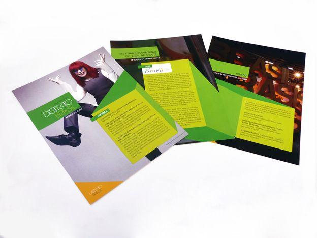 Brochure Distrito Brasil Concepto, diseño editorial, diagramación, retoque fotográfico y desarrollo. Trabajo realizado para el Instituto Distrital de las Artes IDARTES y la Embajada de Brasil. Bogotá, 2012. #editorial #typography #design #graphicdesign #brasil