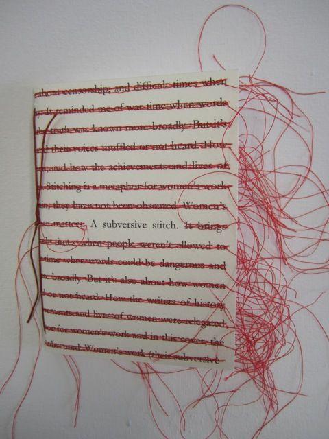 Paper Ponderings: A subversive stitch complete