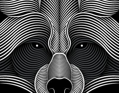 """Popatrz na ten projekt w @Behance: """"Raccoon"""" https://www.behance.net/gallery/17967925/Raccoon"""