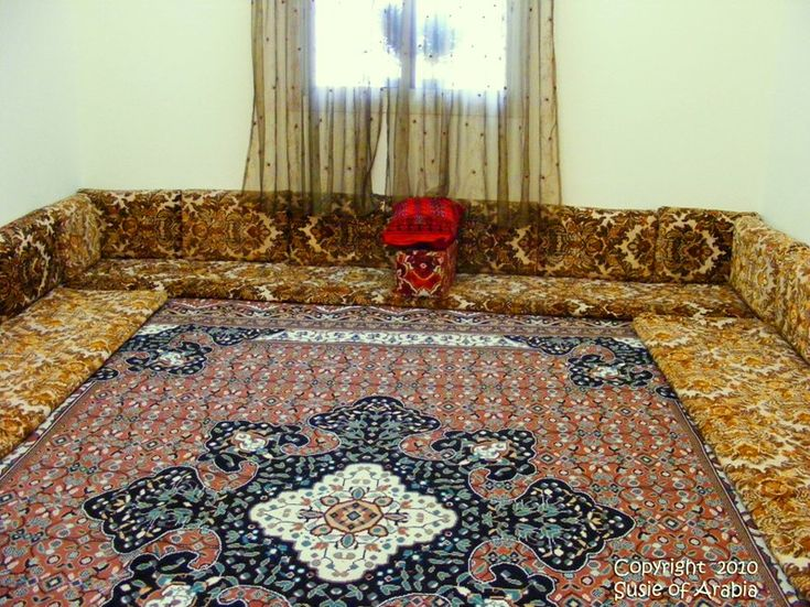 Middle Eastern Style Floor Pillows : Saudi Old-Style Seating The o jays, The wall and The floor