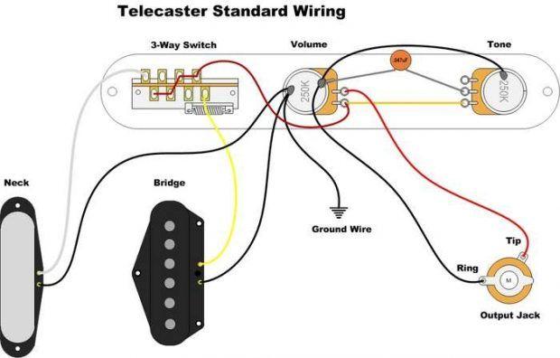 Image result for 1953 telecaster wiring diagram | Telecaster guitar, Guitar  accessories, TelecasterPinterest
