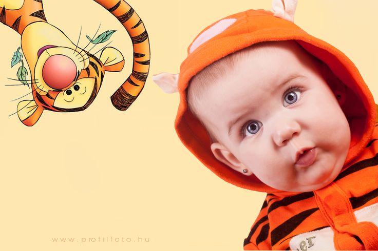 Winnie-the-Pooh - tigger costume - www.profilfoto.hu  photo by Krisztina Mate #baby #blueeyes #winniethepooh #tigger #tiggercostume