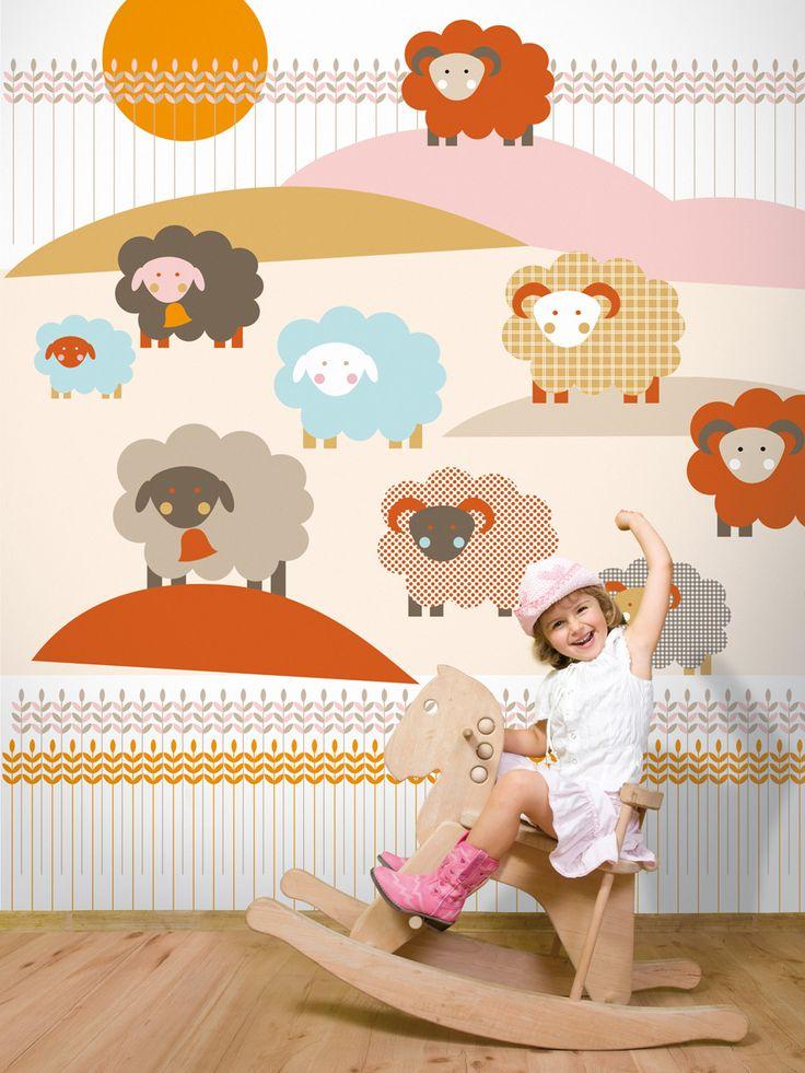 Sheep / non-woven mural / lavmi