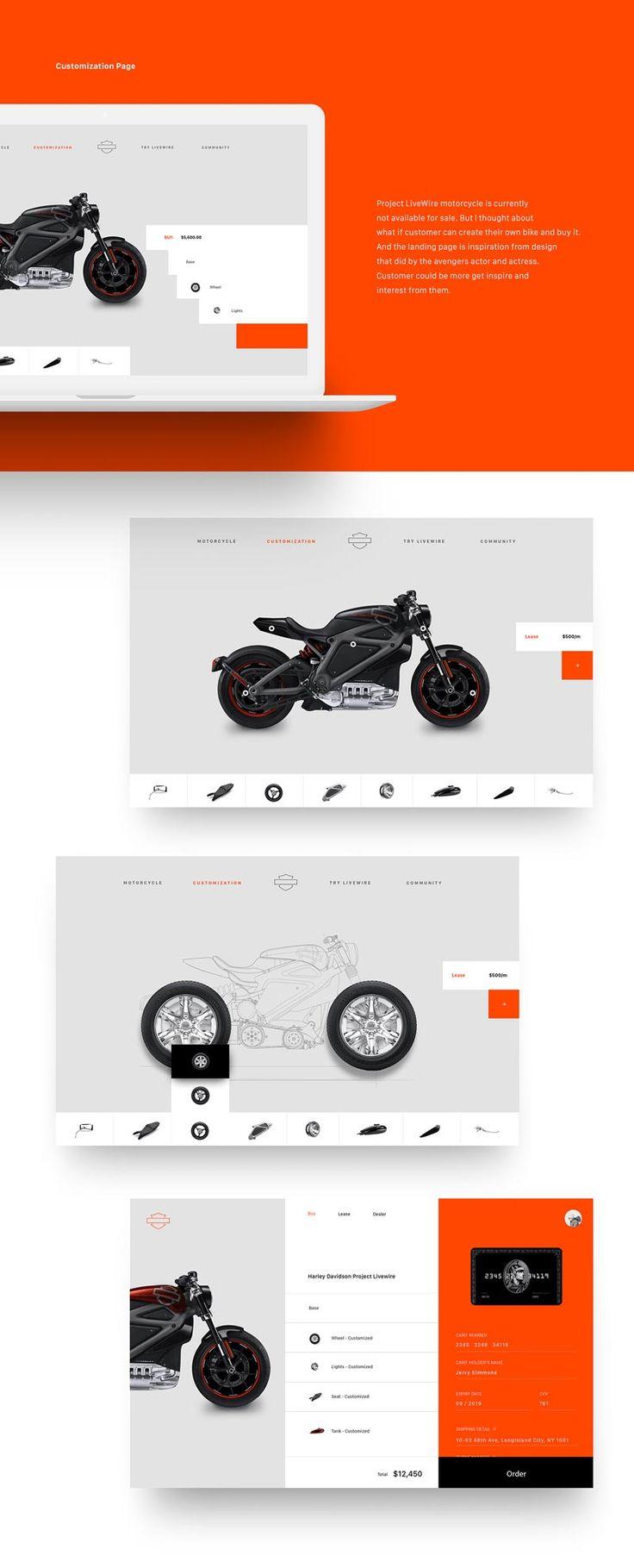 Harley Davidson Motorcycle Website - Behance #ui #ux#userexperience #website #webdesign #design