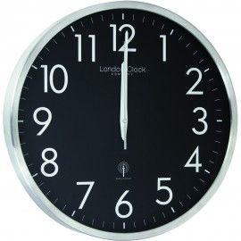 Radio Controlled Black Wall Clock 42cm