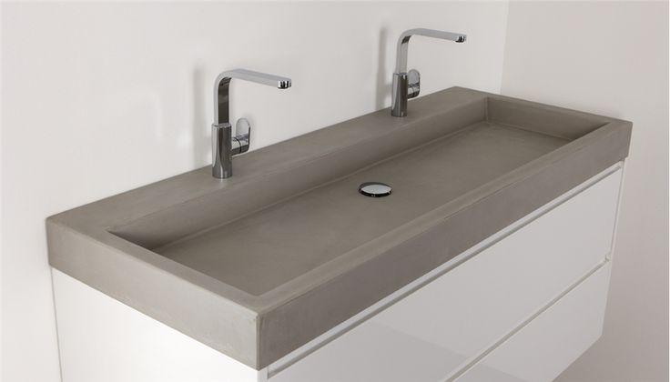 Betonnen wastafels van Thebalux - Nieuws - De beste badkamer ideeën | UW-badkamer.nl