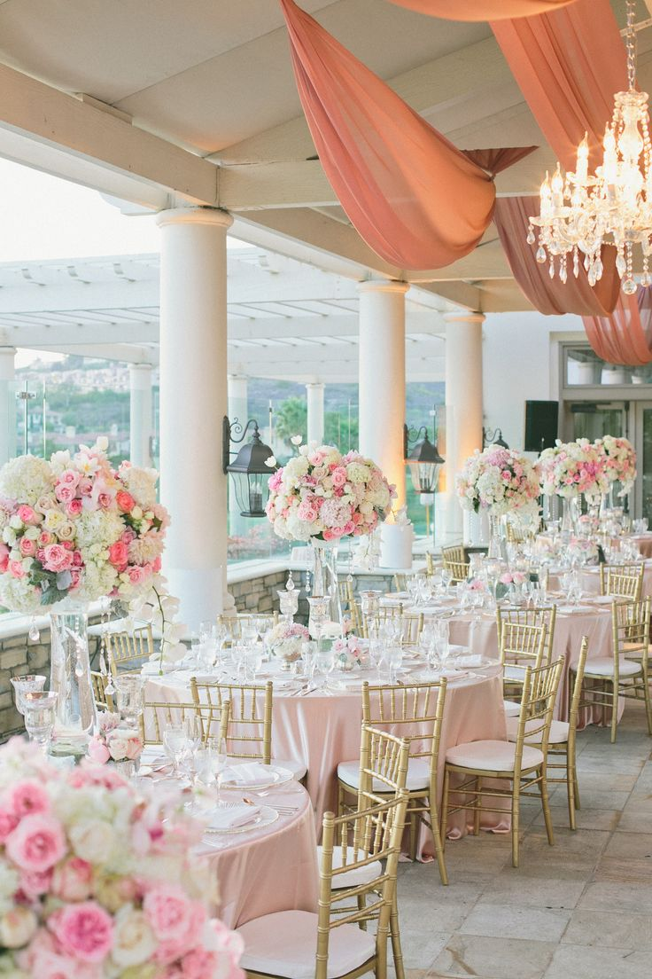 Rose gold wedding inspiration onewed rose gold ruffly wedding chair - Best 20 Pink Wedding Decorations Ideas On Pinterest Pink Romantic Pink White Wedding At St Regis