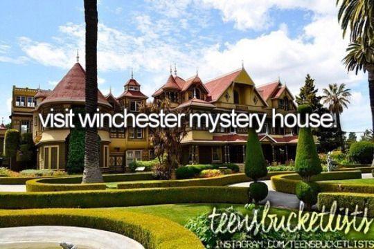 visit winchester mystery house #bucketlist